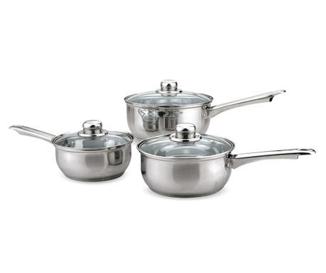 Set 3 posude za kuhanje s poklopcem Practic