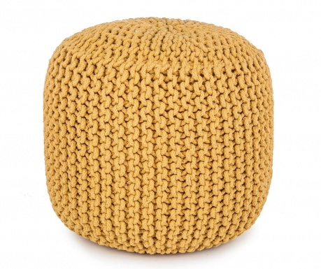 Tricot Yellow Puff