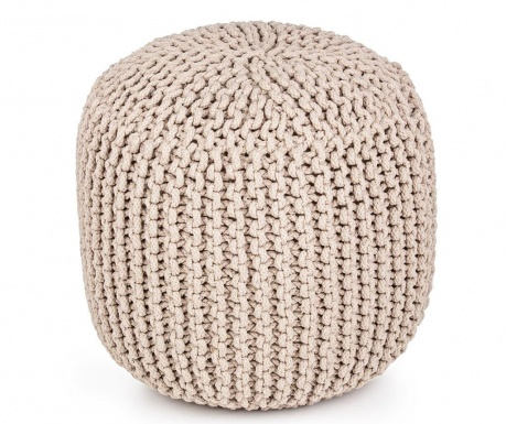 Sedací puf Tricot Taupe