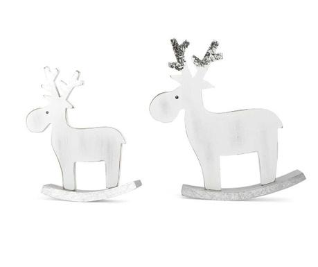 Zestaw 2 dekoracji Elk White