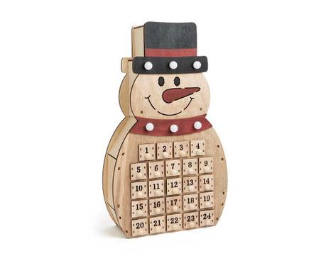 Dekoracija z adventnim koledarjem Snowman