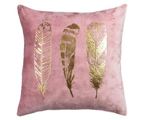 Okrasna blazina Feathers Pink Gold 45x45 cm