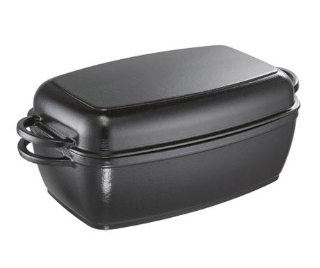 Naczynie do pieczenia z pokrywką Rustika Black 5 L