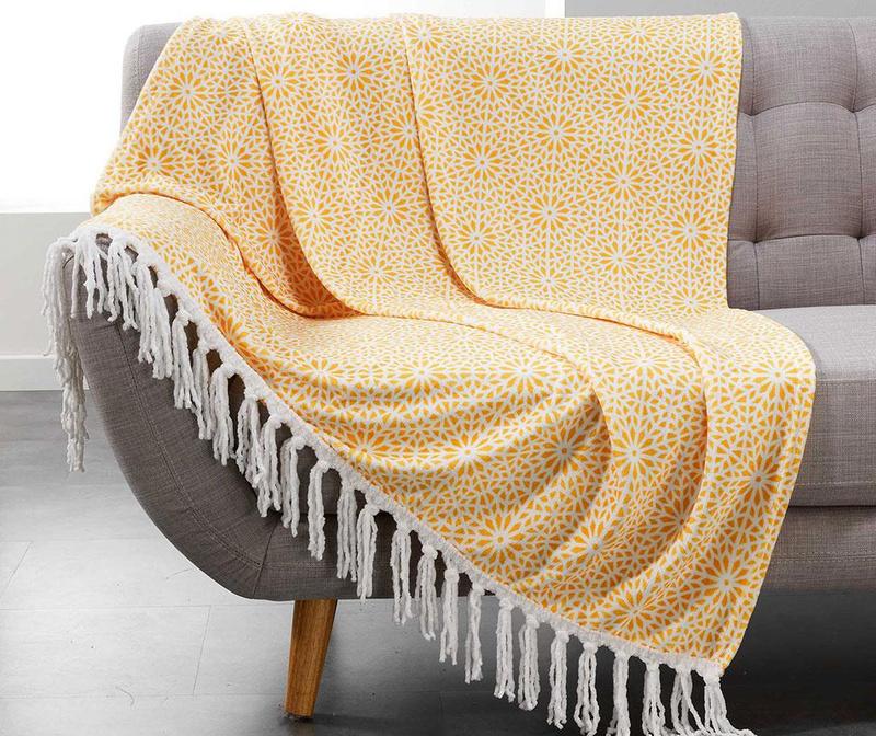 Priročna odeja Tunis Yellow 125x150 cm