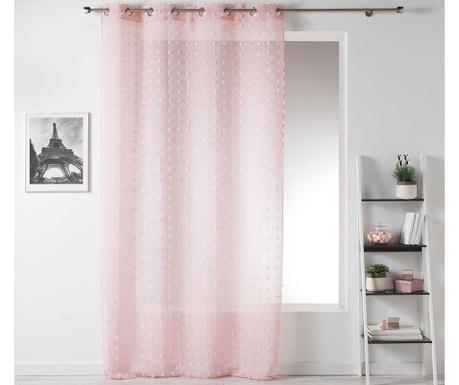 Záclona Pompom Pink 140x240 cm