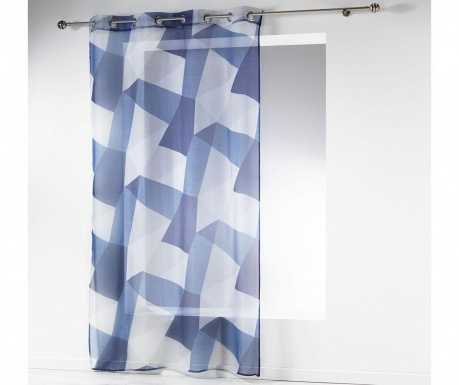 Záclona Blue Squares 140x240 cm