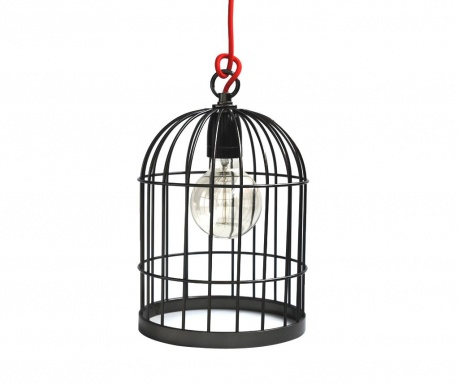 Bird Cage Black Pearl Red Csillár