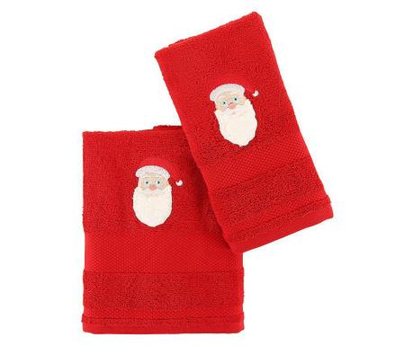 Set 2 kopalniških brisač Father Noel Red