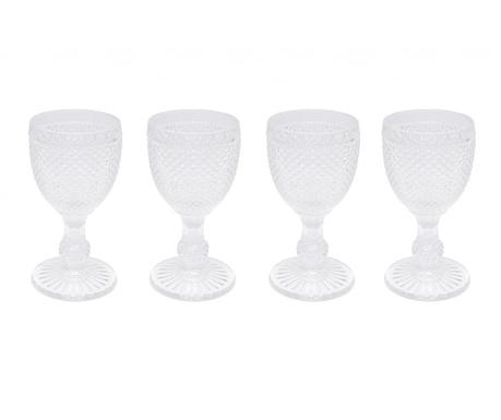 Zestaw 4 kieliszków do wina Gaia Transparent