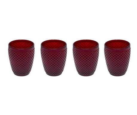Zestaw 4 szklanek do wody Gaia Red