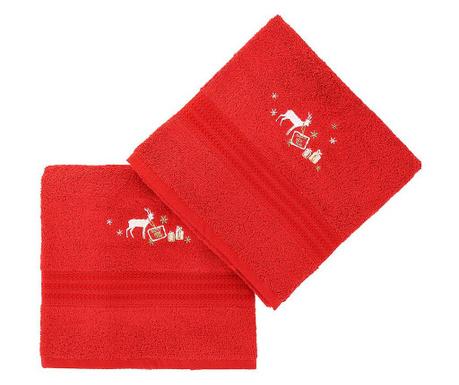 Set 2 prosoape de baie Reindeer Red 70x140 cm