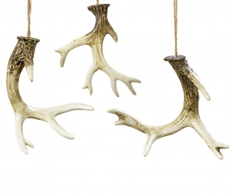 Set 3 decoratiuni suspendabile Antler