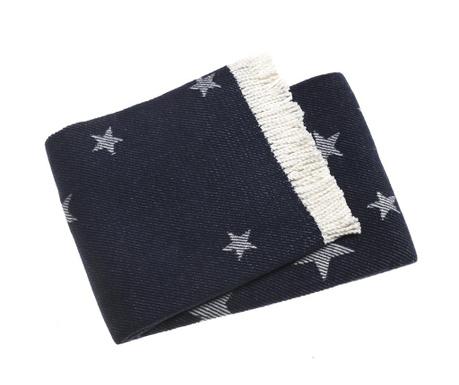 Pled Stars Navy Blue 140x180 cm