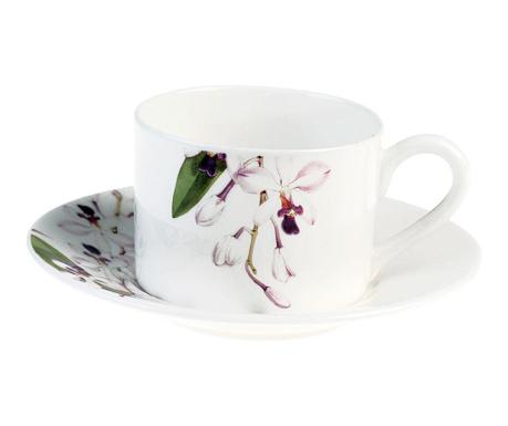 Set - skodelica in krožniček Orchids Alice
