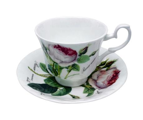 Set - skodelica in krožniček Redoute Rose