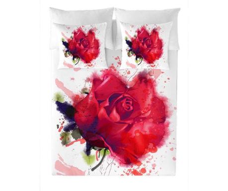 Posteljnina Single Ranforce Red Rose