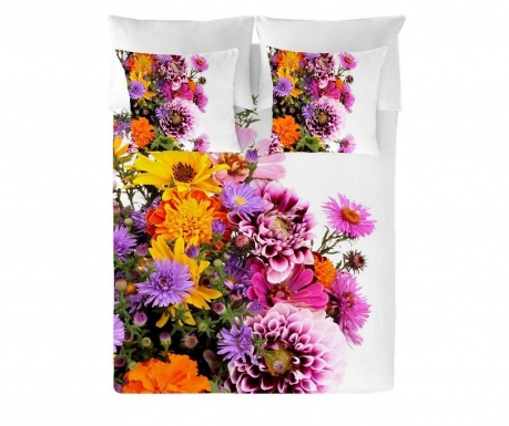 Posteljnina Double Ranforce Flowers