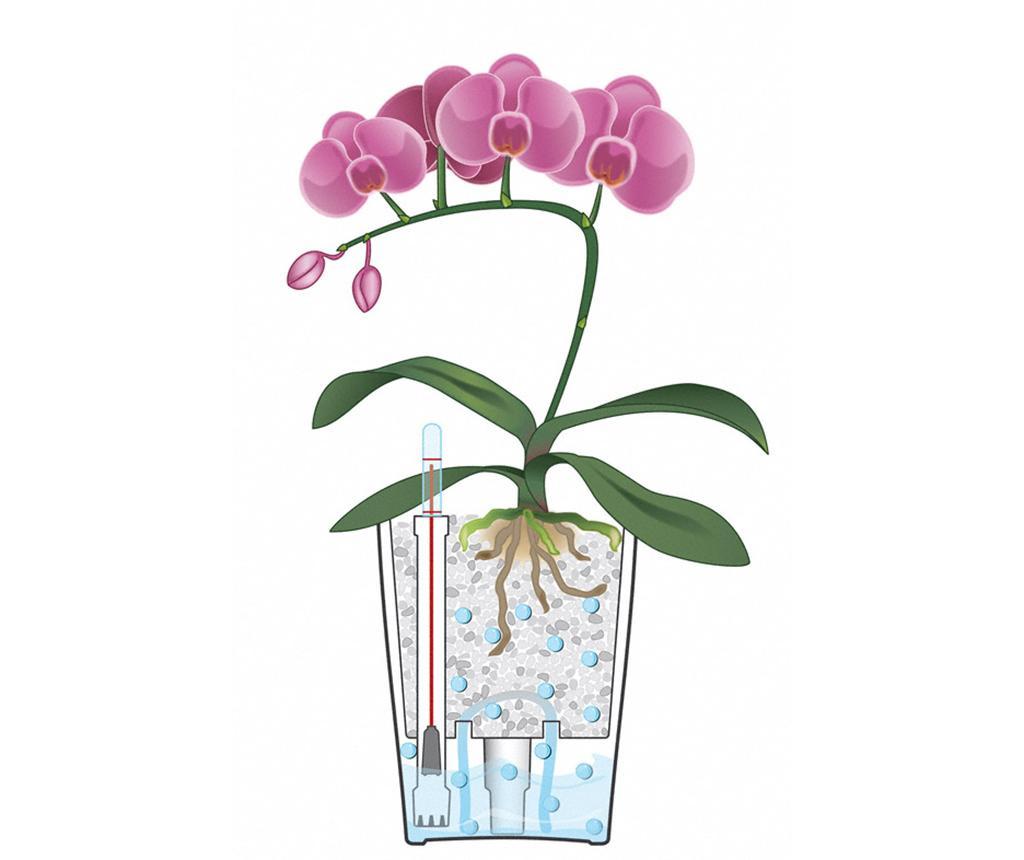 Set - cvetlični lonec z avto-namakalnim sistemom in držalo Deltini Table Taupe M