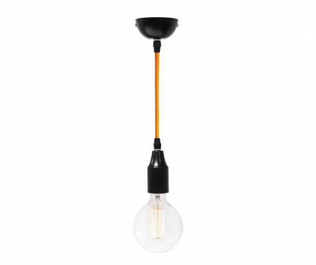 Závesná lampa Single Black and Orange
