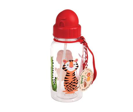 Sticla cu pai pentru copii Colourful Creatures 500 ml