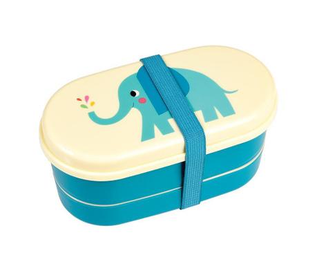 Elvis the Elephant Uzsonnás doboz 2 evőeszközzel