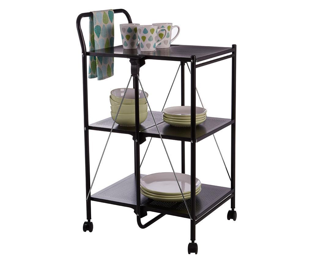 Zložljiv kuhinjski voziček Shelves