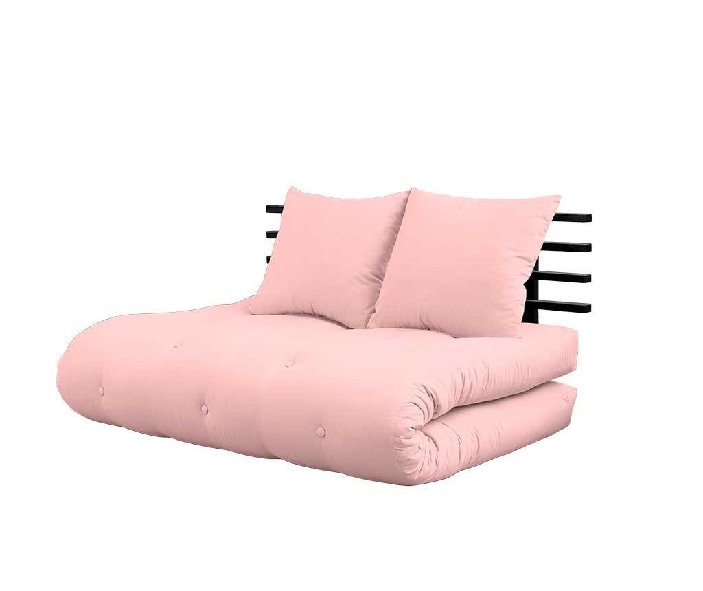 Shinsano Black and Pink Kinyitható Szófa