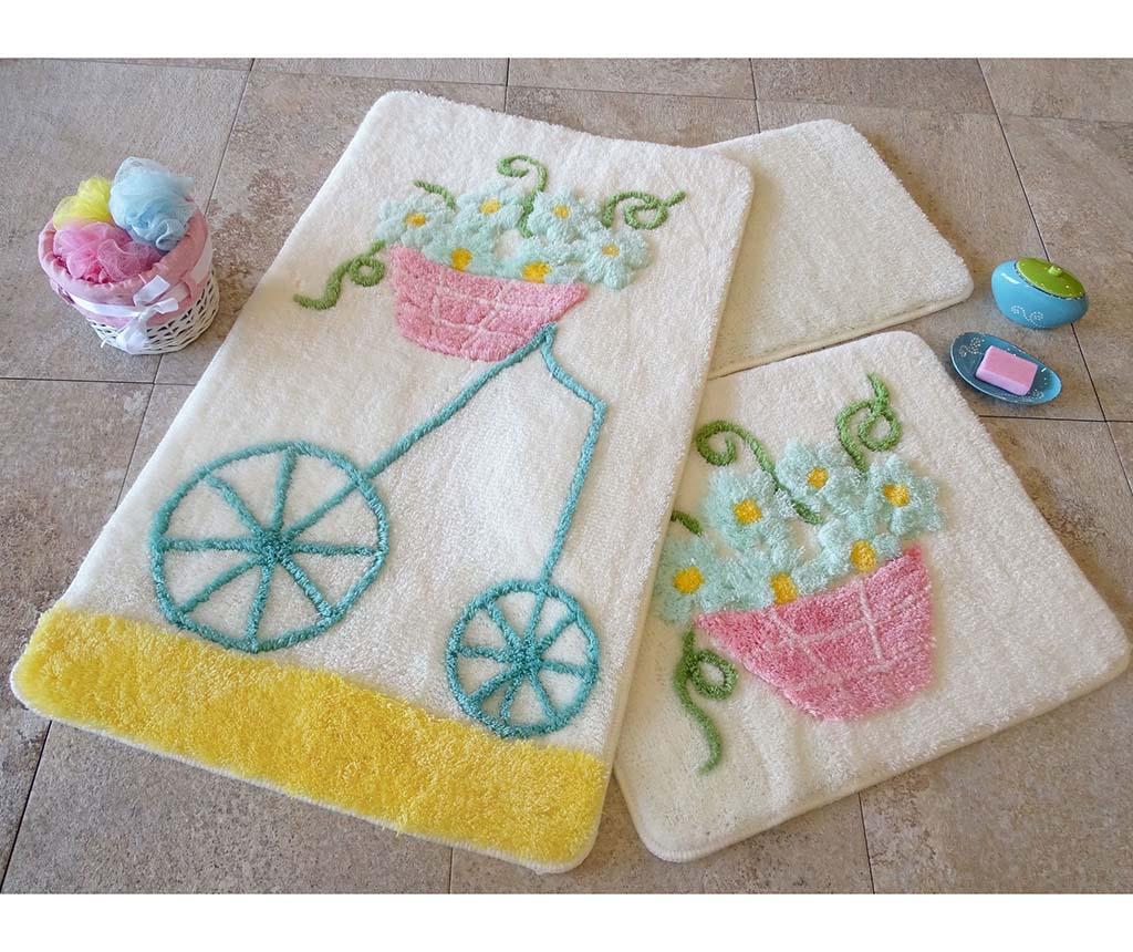Alcati Yellow 3 db Fürdőszobai szőnyeg