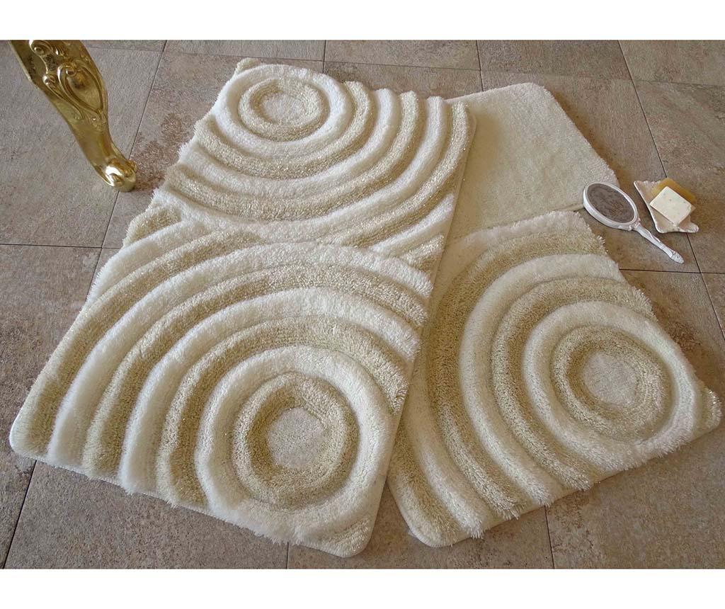 Wave Ecru 3 db Fürdőszobai szőnyeg