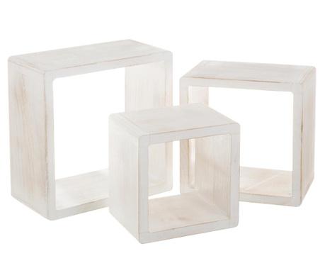 Set 3 rafturi modulare Modern White