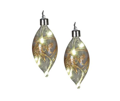 Set 2 svjetleće ukrasne kuglice Charon