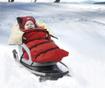 Spalna vreča za malčke Husky Red 47x95 cm