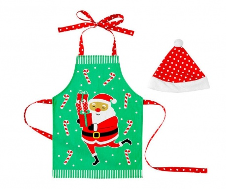 Sada kuchynská zástera a čiapka Santa Fun