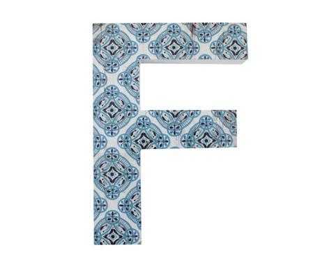 Nástenná dekorácia Letter F