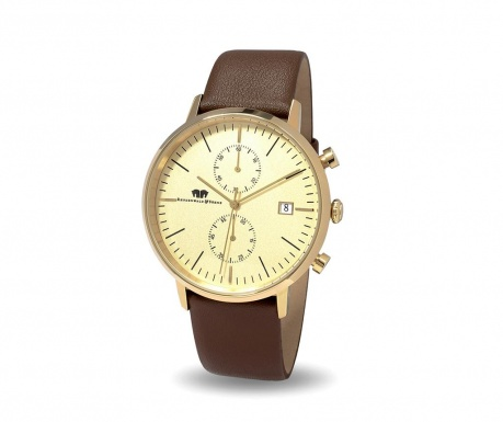 Мъжки ръчен часовник Rhodenwald Sohne Hyperstar Brown Gold