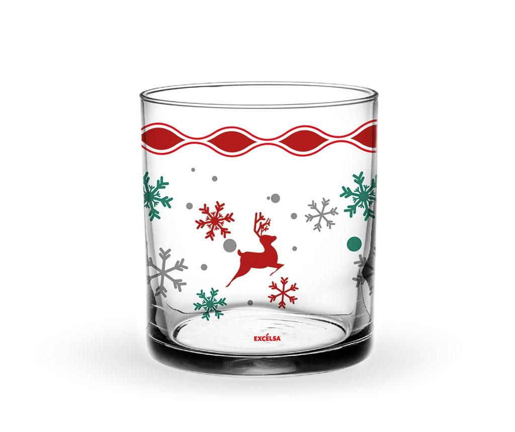 Set 3 pahare Snowy Deer 250 ml