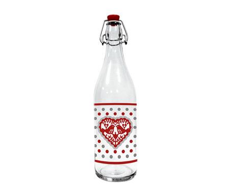 Jolly Hearts Üvegpalack dugóval 1 L
