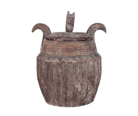 Antique Díszedény fedővel