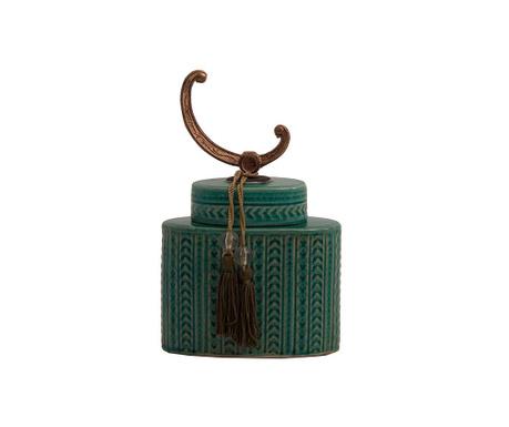 Turquoise Díszedény fedővel