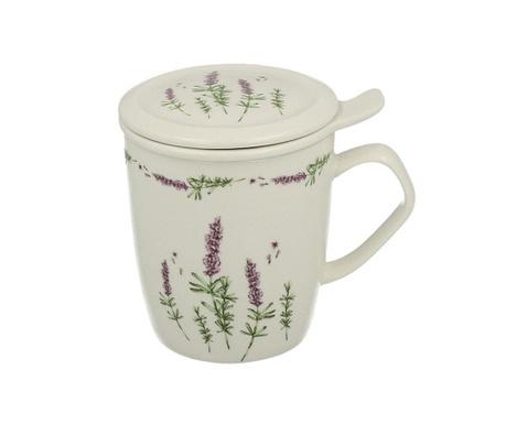 Lavender Bögre fedővel és szűrővel 400 ml