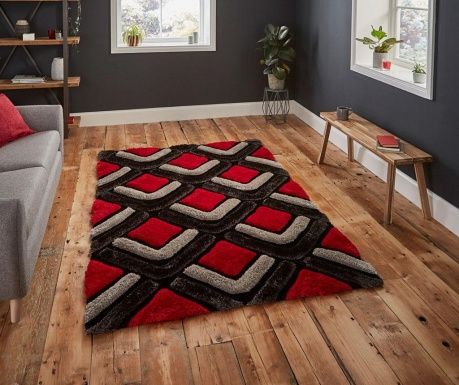 Tepih Noble House Black & Red