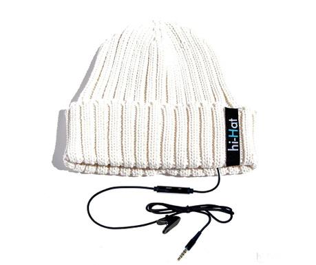 Caciula cu casca integrata hi-Hat White