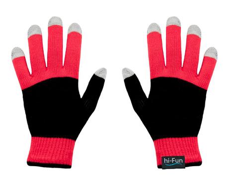 hi-Glove Knit Red Érintőképernyős Férfi kesztyű
