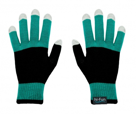 hi-Glove Knit Mint Érintőképernyős Női kesztyű