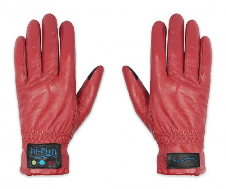 hi-Call Leather Red Smart Női kesztyű