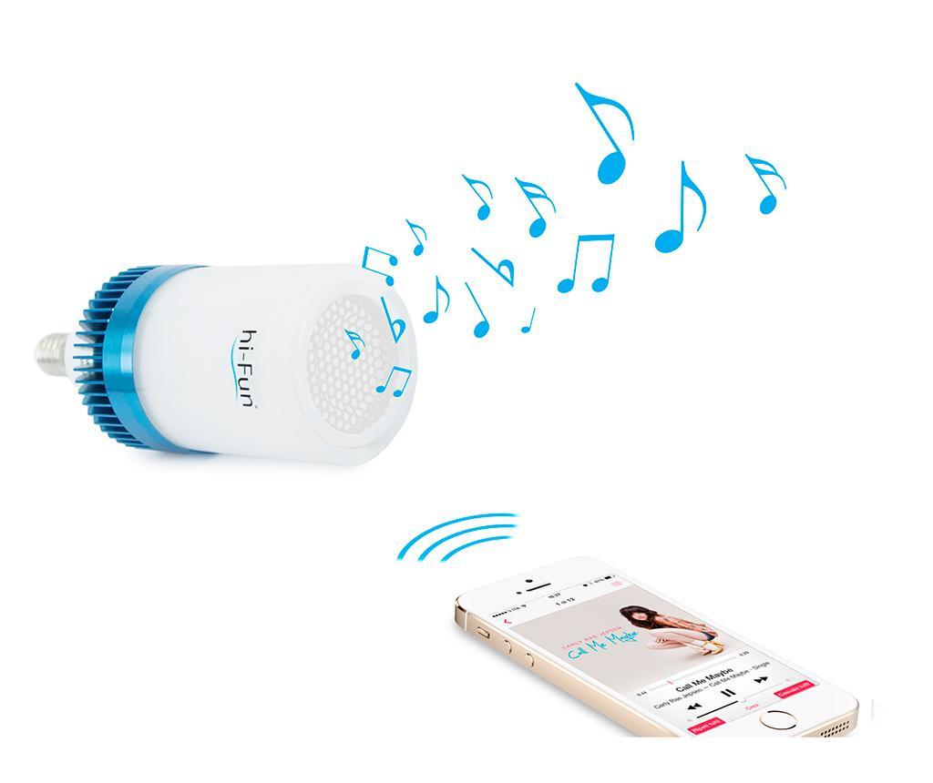 LED lampička s reproduktorem hi-Ambient E14