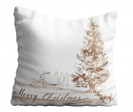 Perna decorativa Christmas Sepia 43x43 cm
