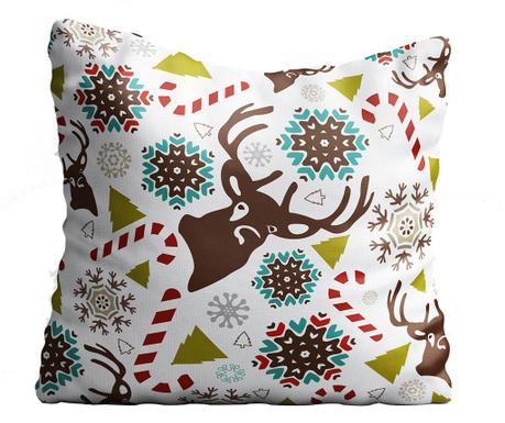 Perna decorativa Raindeer & Snowflakes 43x43 cm