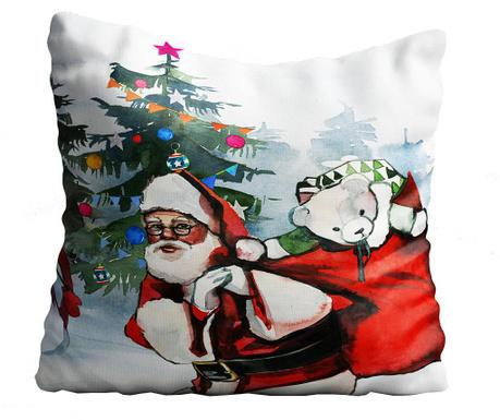 Perna decorativa Santa & Snowman 43x43 cm