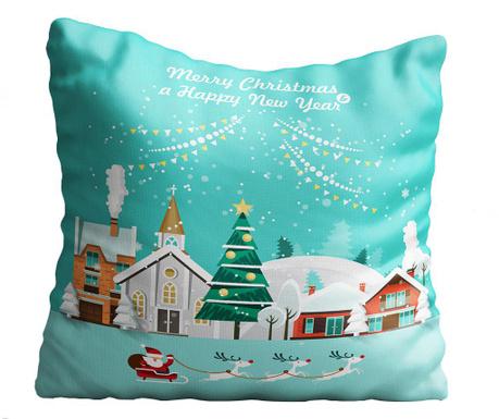 Perna decorativa Santa in Town 43x43 cm